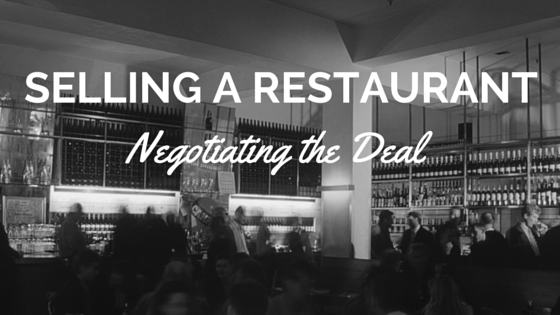 selling a restaurant negotiating the deal